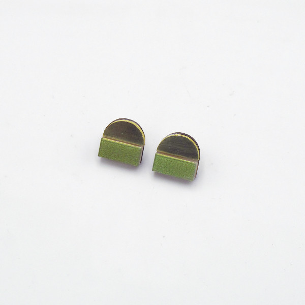 Duni Studs - Green by Chalk House Jewellery at Of Cabbages and Kings