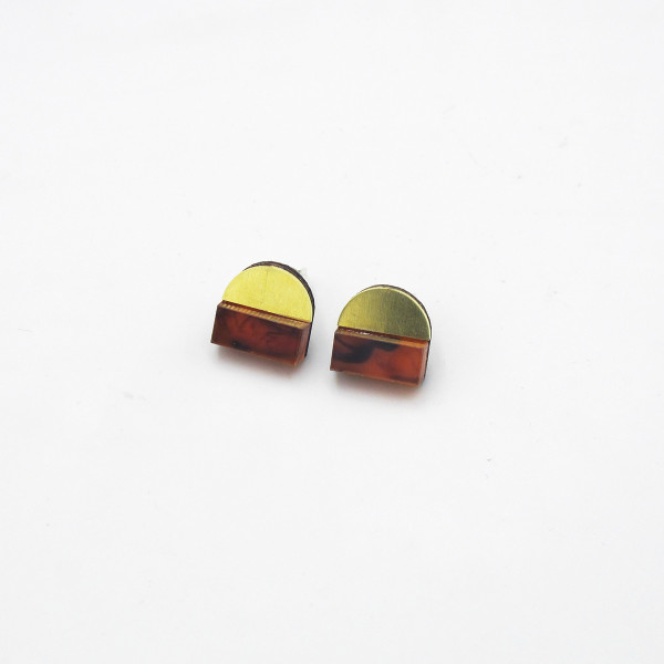 Duni Studs - Tortoiseshell by Chalk House Jewellery at Of Cabbages and Kings