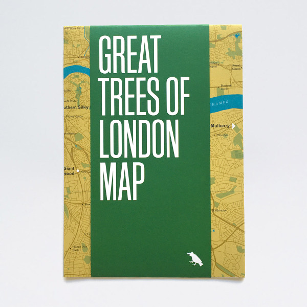 Great Trees of London Map by Blue Crow Media at Of Cabbages and Kings.