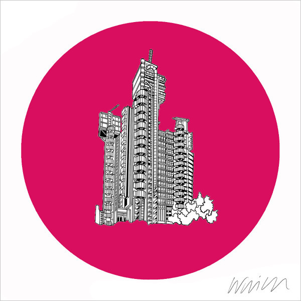 Lloyds Of London Building (pink) by Will Clarke at Of Cabbages and Kings