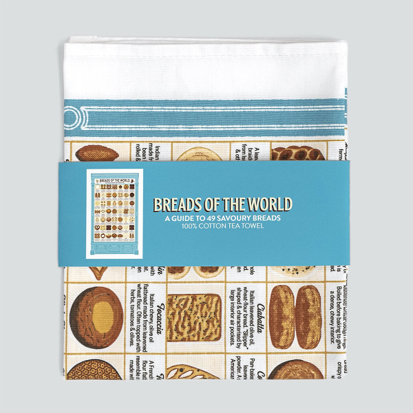 Breads of the World Tea Towel by Stuart Gardiner at Of Cabbages and Kings