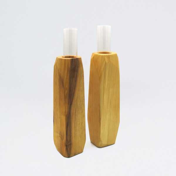 Medium Light Wooden Vase by Priormade at Of Cabbages and Kings