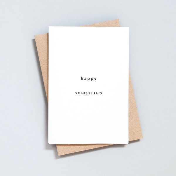 Single Happy Christmas Christmas Card by Ola at Of Cabbages and Kings