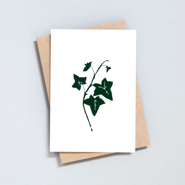 Single Ivy Festive Card by Ola at Of Cabbages and Kings