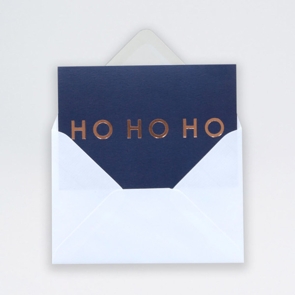 Single Ho Ho Ho Christmas Card by Ola at Of Cabbages and Kings