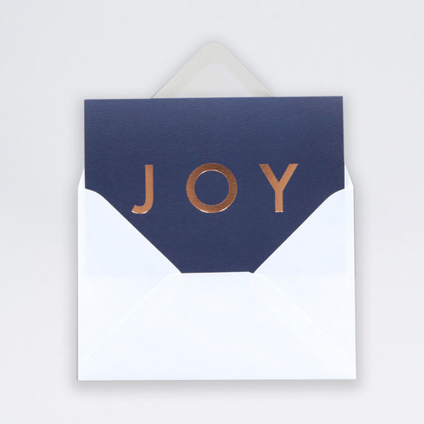 Single Joy Christmas Card by Ola at Of Cabbages and Kings