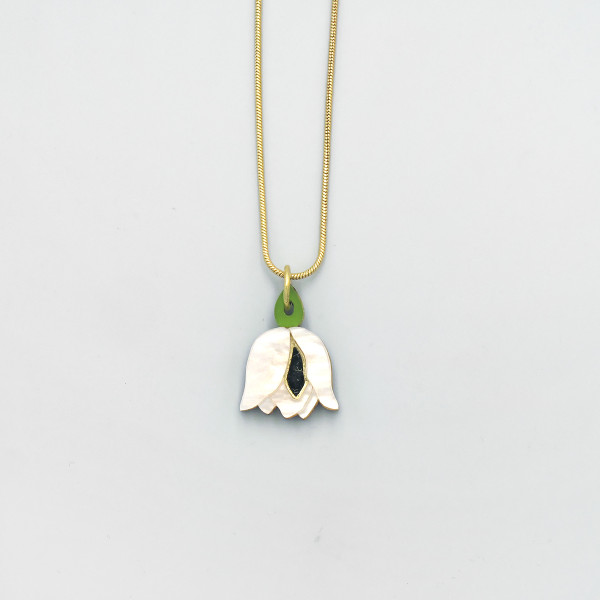 Tulip Necklace by Wolf and Moon at Of Cabbages and Kings