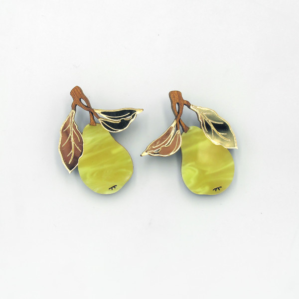 Pear Earrings by Wolf and Moon at Of Cabbages and Kings