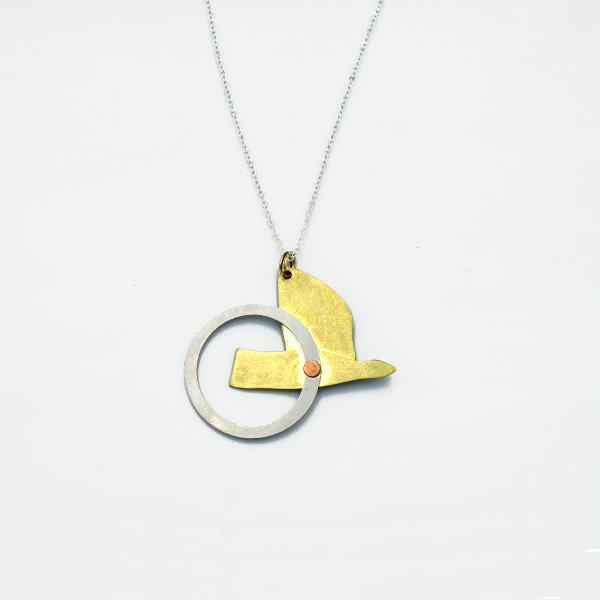 Flying With One Wing Necklace by Pivot at Of Cabbages and Kings