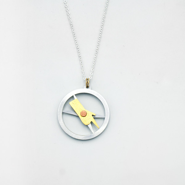 Tot's Compass Necklace by Pivot at Of Cabbages and Kings