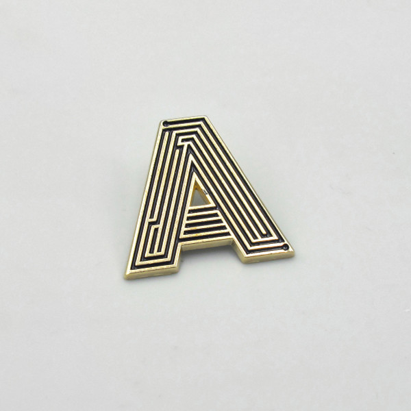 Labyrinth Letter Pin - A by Seven Green Moons at Of Cabbages and Kings