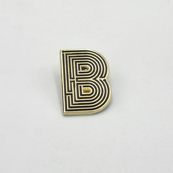 Labyrinth Letter Pin - B by Seven Green Moons at Of Cabbages and Kings