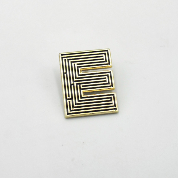 Labyrinth Letter Pin - E by Seven Green Moons at Of Cabbages and Kings