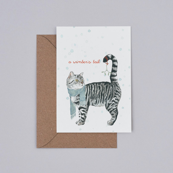 A Winter's Tail Christmas Card by Mister Peebles at Of Cabbages and Kings