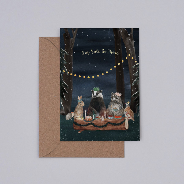 Say Yule Be There Christmas Card by Mister Peebles at Of Cabbages and Kings