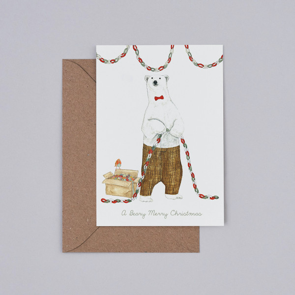 A Beary Merry Christmas Christmas Card by Mister Peebles at Of Cabbages and Kings