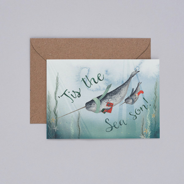 Tis the Sea Son Christmas Card by Mister Peebles at Of Cabbages and Kings