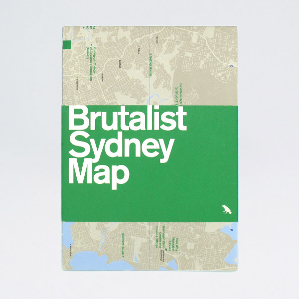 Brutalist Sydney Map by Blue Crow Media available at Of Cabbages and Kings.