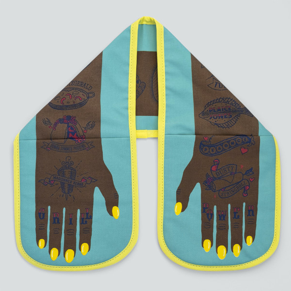 Grill Power Double Oven Glove Dark Skin by Stuart Gardiner at Of Cabbages and Kings