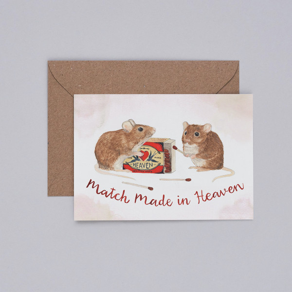 Match Made in Heaven Card by Mister Peebles at Of Cabbages and Kings