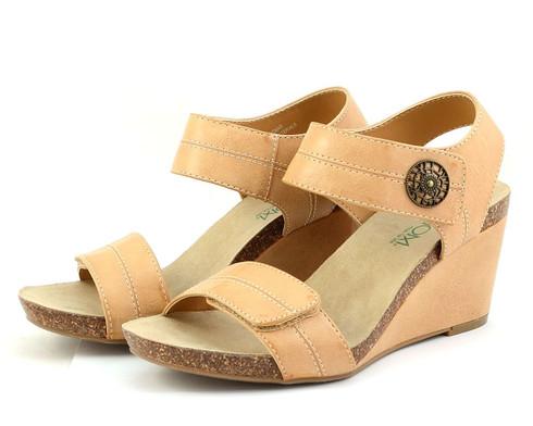 Axxiom Sandbar vegan wedge sandal