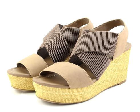 Madeline Dusky vegan platform wedge sandal