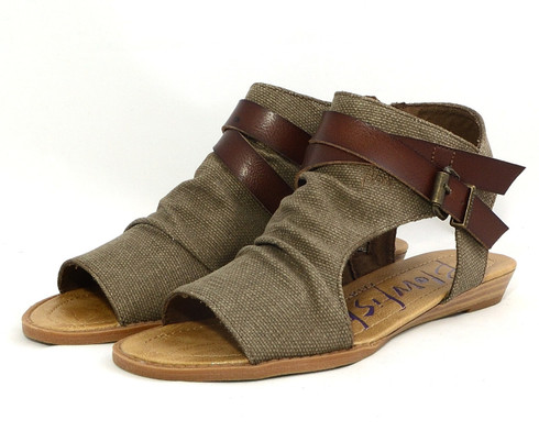 Blowfish Balla vegan canvas mini-wedge sandal