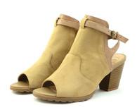 Madeline Western vegan heeled sandal