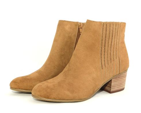 Madeline Rue vegan heeled boot