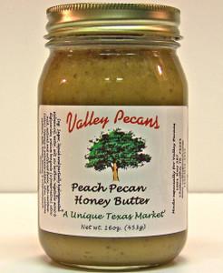 Peach Pecan Honey Butter 16 oz.
