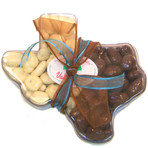 Large Texas Mold with Milk Chocolate Pecans and White Chocolate Pecans