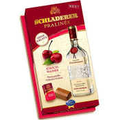 Produced from fresh, fully-ripened fruits by a master distiller, Schladerer fruit spirits have long enjoyed great popularity. Now imagine the finest milk chocolates filled with Schladerer Kirsch Cherry Brandy and you have Schladerer Pralinés. You won't be able to resist. Makes a great gift. For Adults Only! Must be 21 years of age or older to purchase this item. Ingredients: Sugar, cocoa butter, glucose syrup, kirsch cherry brandy, milk, cocoa mass, vanilia (artificial flavor), soy lecithin (emulsifier). Contains milk and Soy. Keep cool and dry. Not suitable for children.