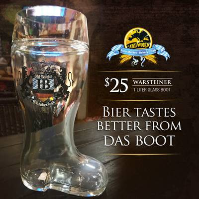 Old World Commemerative Bier Boot