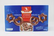 Weiss Milk Chocolate Herzen Sterne Brezeln Zarte Lebkuchen (gingerbread mini pretzels)