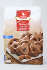 Weiss Herzen Sterne Brezeln Milk Gingerbread Chocolate Cookies