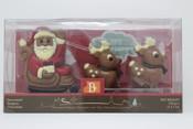 Belfine Belgian Milk Chocolate Santa Sleigh with Reindeer