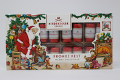 Niederegger Lubeck Frohes Fest Chocolate Covered Marzipan 16pc.