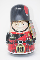 Walkers Pure Butter Shortbread Round Bagpipe Man Tin
