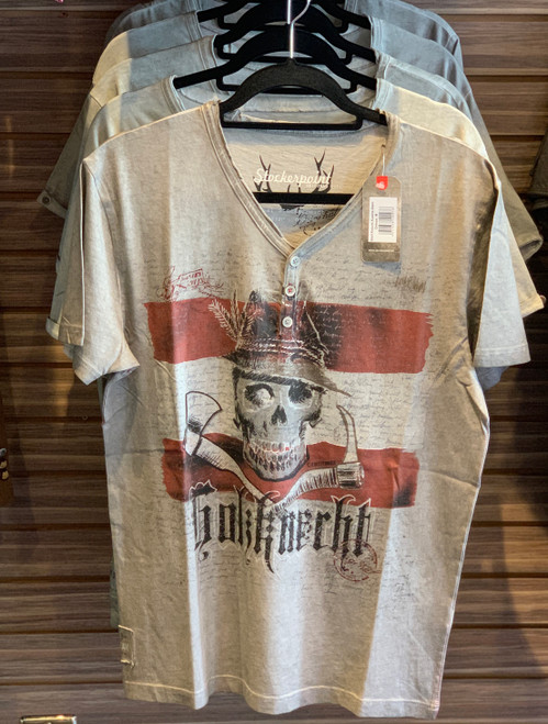 Mens T-Shirt Stockerpoint Traditional KNECHT AUSTRIA Stein