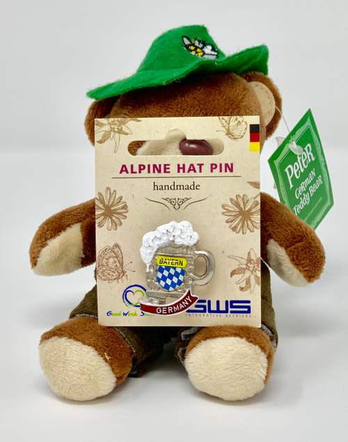 Alpine Hat Pin • Bayern Stein • Handmade