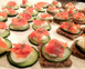 Smoked Alaska Salmon Canapes