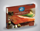 Each case includes 12 - 8oz Smoked Copper River Sockeye Salmon Portions, individually boxed for convenient gifts and entertaining (96oz total).