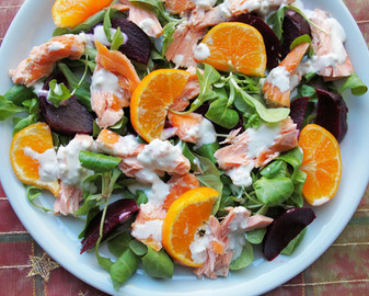 Alaskan Smoked Salmon Salad