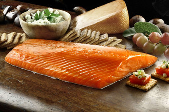 Our Smoked Salmon is easy to prepare - just open, combine with your favorite ingredients and serve! Check out our Smoked Salmon Spread recipe.