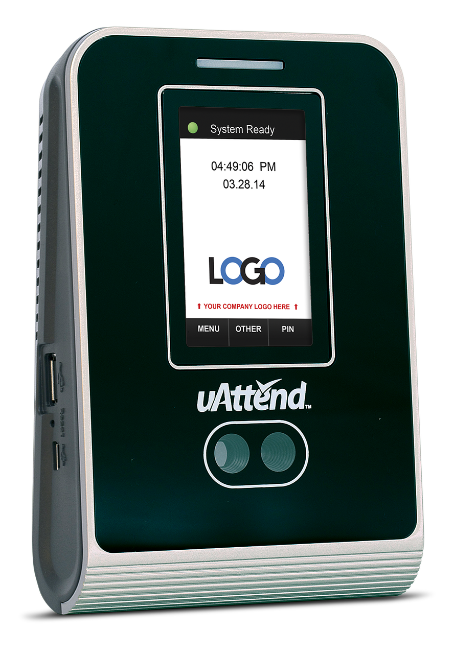 uAttend MN2000 Hosted Facial Recognition Time Clock