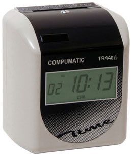 Compumatic TR440dS Heavy Duty Automatic Electronic Payroll Time Recorder Clock & Ribbon