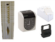 Bundle includes Compumatic TR440aS, 250 time cards, 10 pocket card rack & spare ribbon
