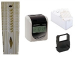 Bundle includes: Compumatic TR440dS, 250 time cards, 10 pocket card rack & spare ribbon