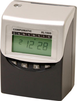 Compumatic XL1000 Computerized Calculating Totaling Time Recorder Clock