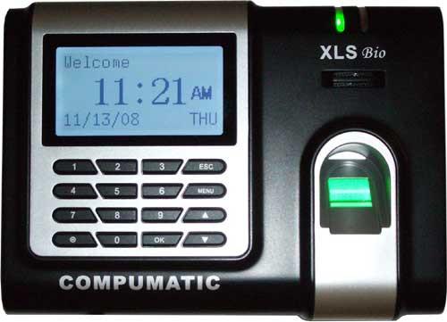 Compumatic XLS bio Biometric Fingerprint & Pin Entry Time Clock w/ Ethernet (TCPIP)